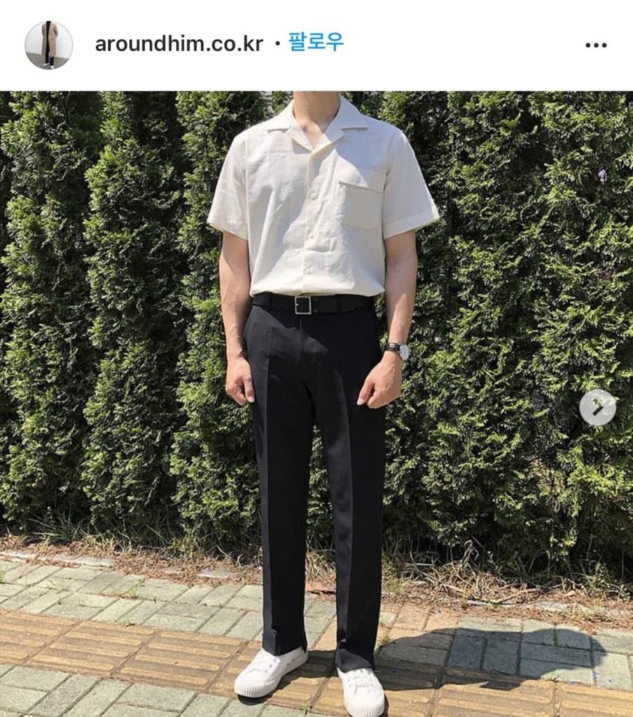 포멀한 남자 반팔 셔츠 코디