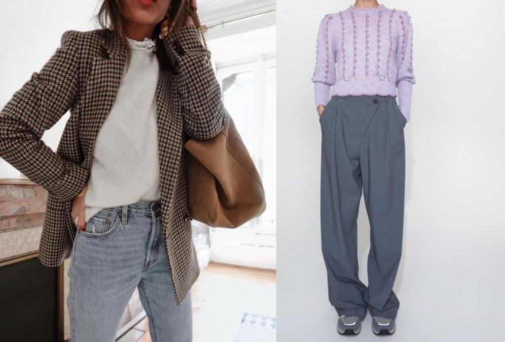 가을 패션 아이템 복고풍 트렌드 케이블 스웨터, 채크 체킷