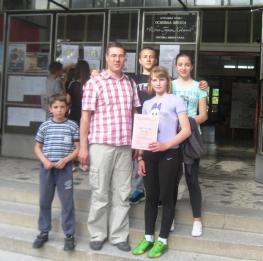 Стефан, наставник Саша, Никола, Милица и Анђела