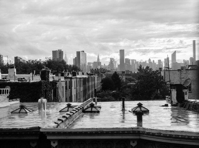 Queens, NY - New York skyline after the rain.