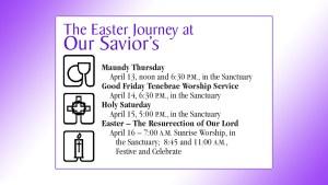 Holy Week hours