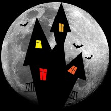 Haunted house illustrtaion
