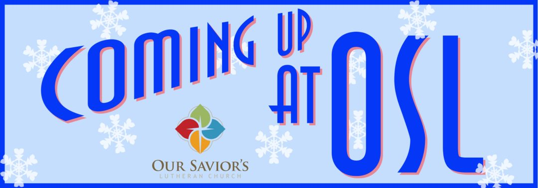 Coming up logo with snowflakes