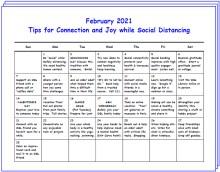 Winter Wellness Calendar for February-April 2021