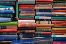 Photo of stacks of books