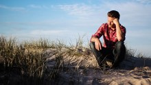 Photo of a Man Thinking