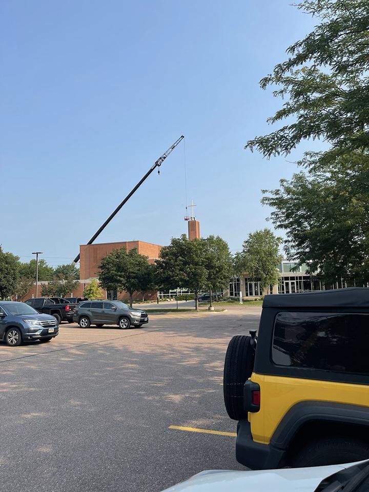 Bell Tower repair, July 27, 2021