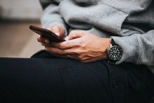 Photo of Man Texting