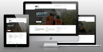 Image showing OSL's responsive website from cheshire based creativeand