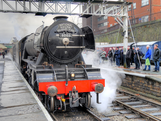 The Flying Scotsman Locomotive gearing up for its arrival at Crewe June 15