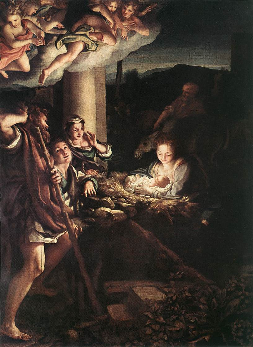 Correggio, Svatá noc, 1528-30