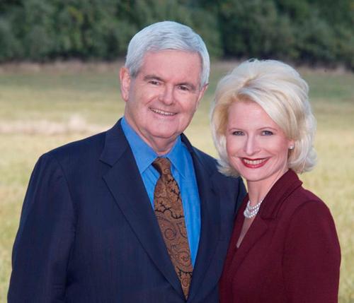 Newt Gingrich se třetí manželkou (foto Newt.org)
