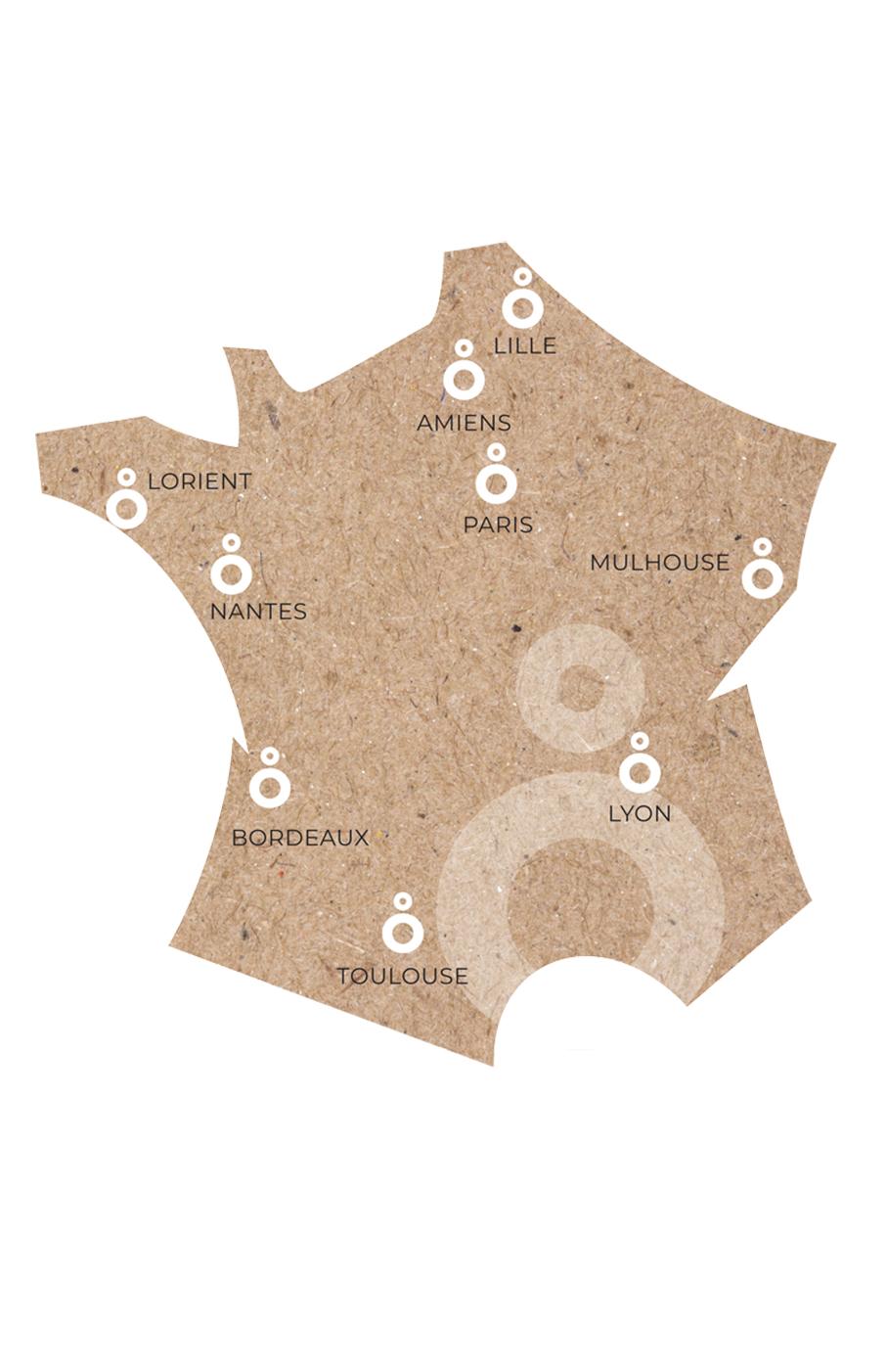 Carte de France Agences OSLO