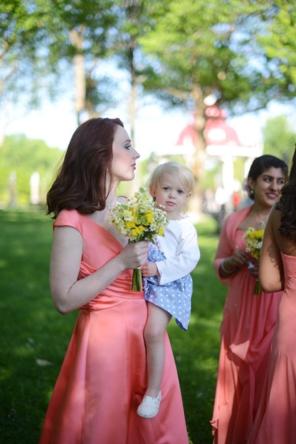 Amelia and her mother at our wedding