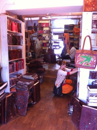 A very cool leather shop that made all of its stuff in store!