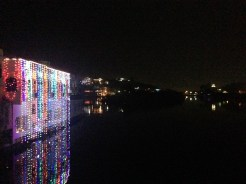 A beautiful display of lights on the river