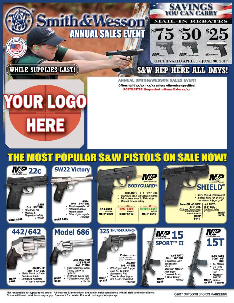 Smith & Wesson Direct Mail Flyer mock-up
