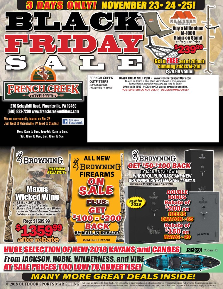 French Creek Outfitters Black Friday Sale – Outdoor Sports