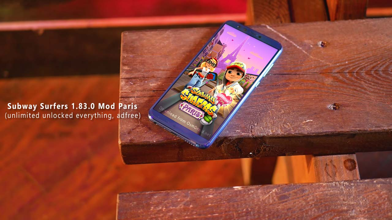 Subway Surfers 1830 Paris Modded Apk Unlimited Unlocked