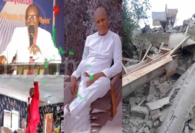 Pastor d*es as his under-construction 2-storey building collapses in Lagos