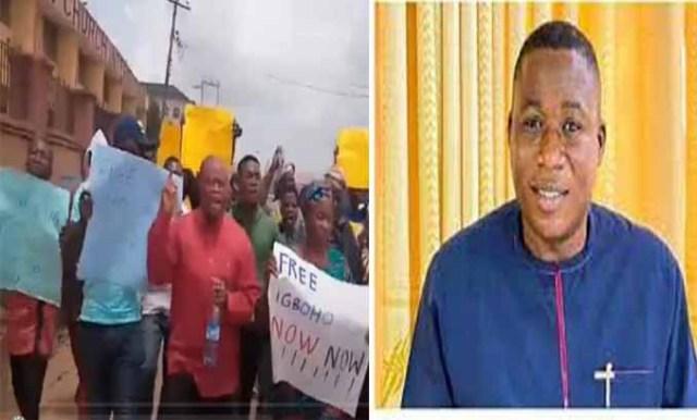 Protesters shutdown Ibadan, demand immediate release of Igboho [PHOTOS]