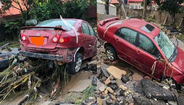 3 killed as heavy flood sweeps through estate in Abuja