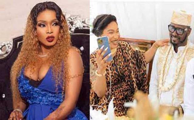 Halima Abubakar drags Tonto Dikeh's ex-lover, Kpokpogri