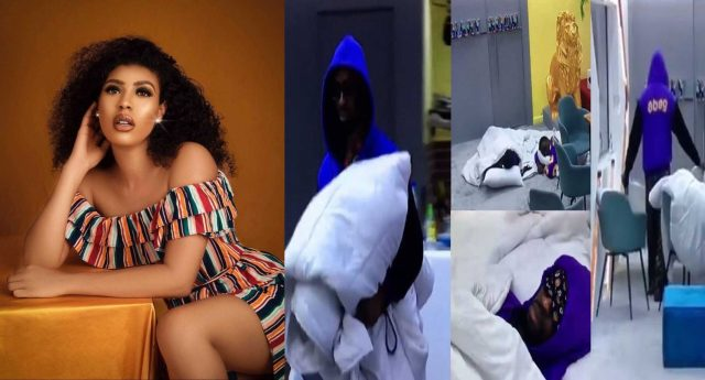BBNaija: Drama as Housemates sleep in front of diary room after Nini went Missing
