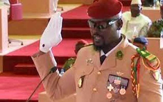 Guinea Coup leader sworn in as interim President