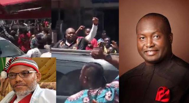 Ifeanyi Ubah campaign turns to Nnamdi Kalu's 'chant', at Alaba International Market Lagos(See Video)