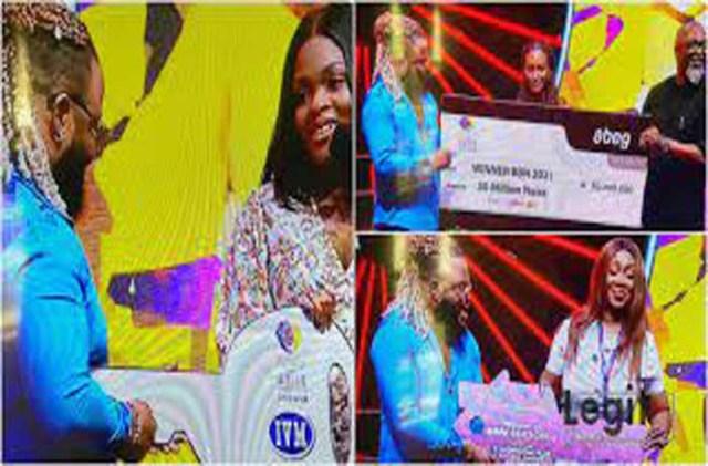 BBNaija: Whitemoney receives N30m cash prize, car, house