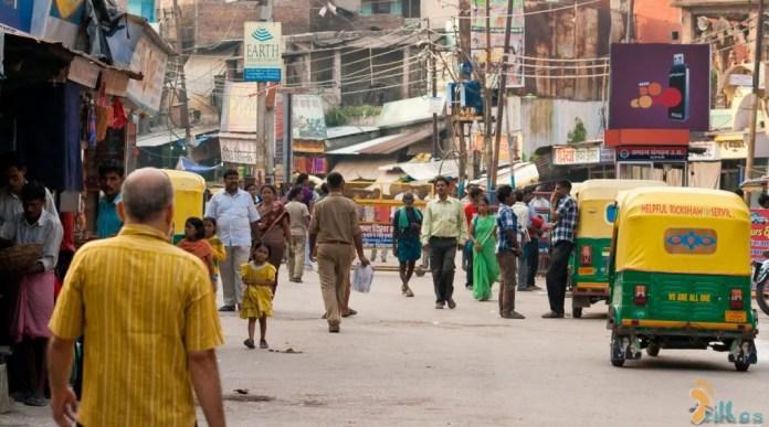 A vida caótica em Varanasi