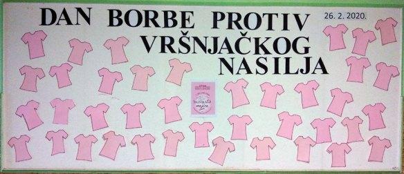 Дан ружичастих мајица - фебруар '20.