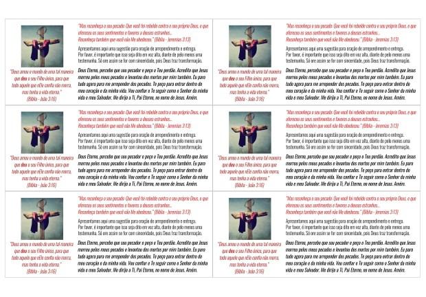 6 Folhetos (Só o verso) - OsMisteriosDeDeus