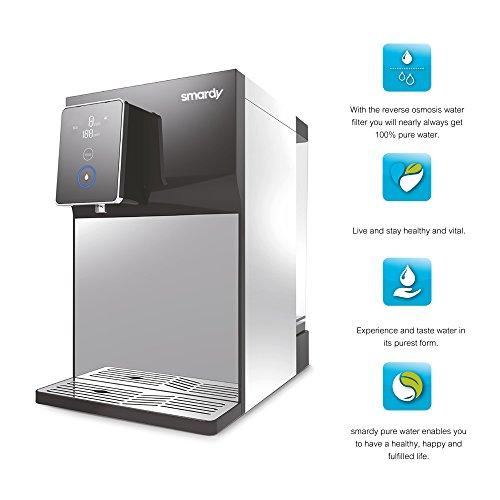 smardy blue R100 Premium Wasserbar - benötigt keinen Wasseranschluss - Quick Change Umkehrosmoseanlage Wasserfilter 5 Stufig - kalkfreies Trinkwasser – spendet kaltes, warmes, heißes Wasser - 2