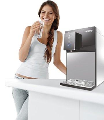 smardy blue R100 Premium Wasserbar - benötigt keinen Wasseranschluss - Quick Change Umkehrosmoseanlage Wasserfilter 5 Stufig - kalkfreies Trinkwasser – spendet kaltes, warmes, heißes Wasser - 5