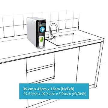 Sonvita PURA UP Auftisch Umkehrosmose Wasserfilter für kalkfreies Trinkwasser Osmoseanlage für schadstofffreies Leitungswasser - 4
