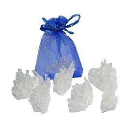 10 Stück Bergkristall schöne kleine Stufen Natur gewachsen und Natur belassen Give away Geschenk Mitbringsel (4585) - 1