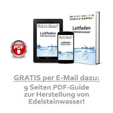 Große Wasserstein Mischung/Set NATUR mit den 7 beliebtesten Natursteinen | 300g Premium Edelsteine zur Herstellung von Edelsteinwasser - 5