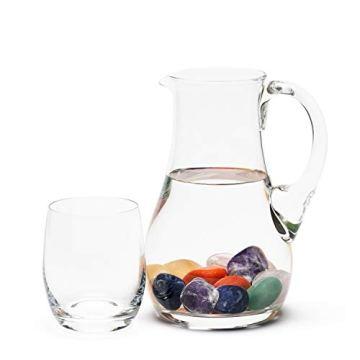 Großes Wasseredelstein-Set | Mischung mit 7 beliebten Sorten | Premium Wassersteine zur Herstellung von Edelsteinwasser | Edelsteine - 2