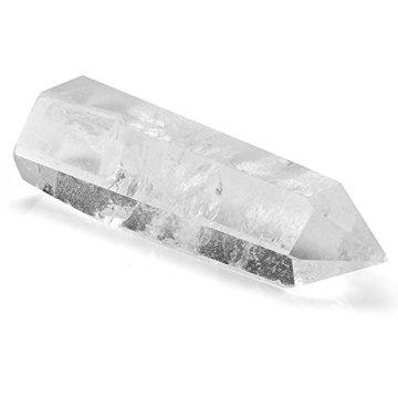 QGEM Naturstein Bergkristall Spitze Super Qualität Edelstein Spitze Naturspitze Säulen Stein Kristall Deko für Büro Wohnzimmer Schlafzimmer/3pics Set - 2