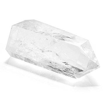 QGEM Naturstein Bergkristall Spitze Super Qualität Edelstein Spitze Naturspitze Säulen Stein Kristall Deko für Büro Wohnzimmer Schlafzimmer/3pics Set - 4