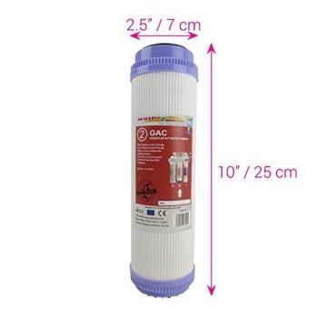Water2buy Universal 5Stufen Umkehrosmose komplett Wasser Filter Ersatz-Set, weiß, 5Stück - 4