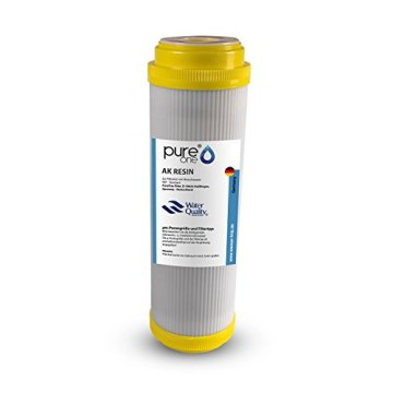 PureOne AKS2 Antikalk-Set. Doppel Filteranlage 10 Zoll. Entkalkung bzw. Wasserenthärtung. Ionentauscher Resin. Filtergehäuse plus AK Resin Filterkartusche. Für Zisterne, Brunnenwasser - 3