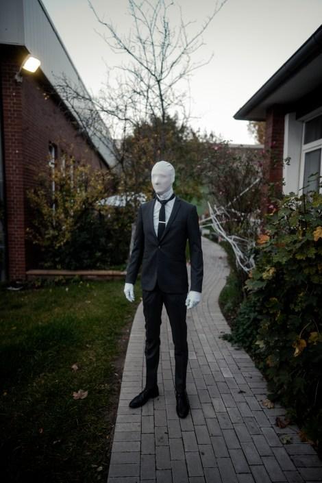 Verkleidung Slenderman Halloween im OSNABLOC