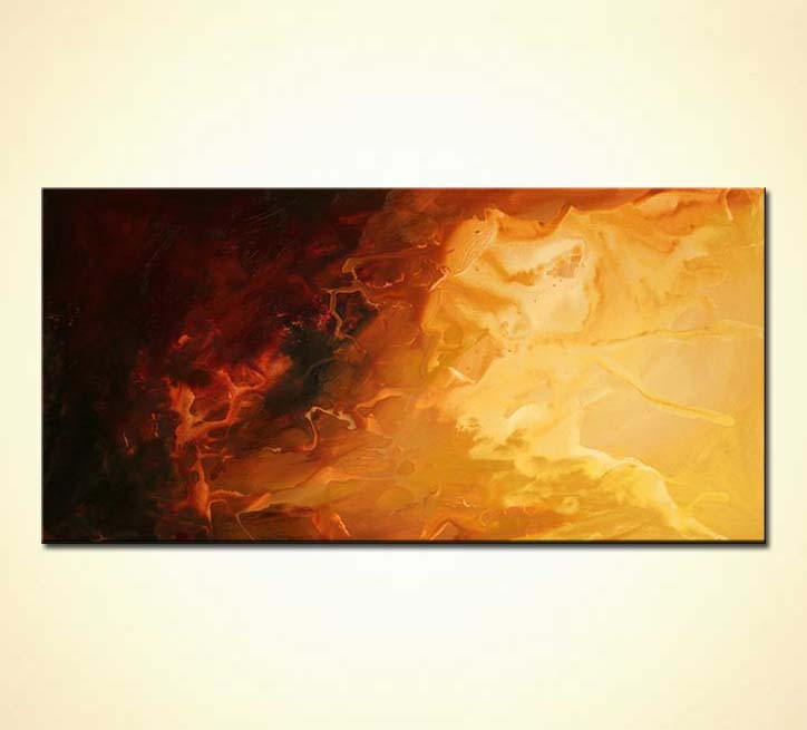 Painting For Sale Vertical Brown Gold Abstract Painting