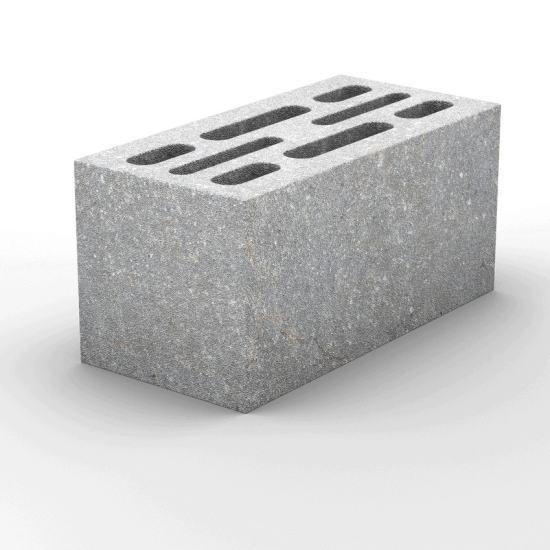 8-и щелевой пескоцементный стеновой блок 390х190х188