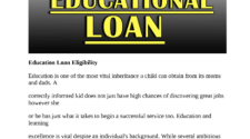 Education Loan Eligibility