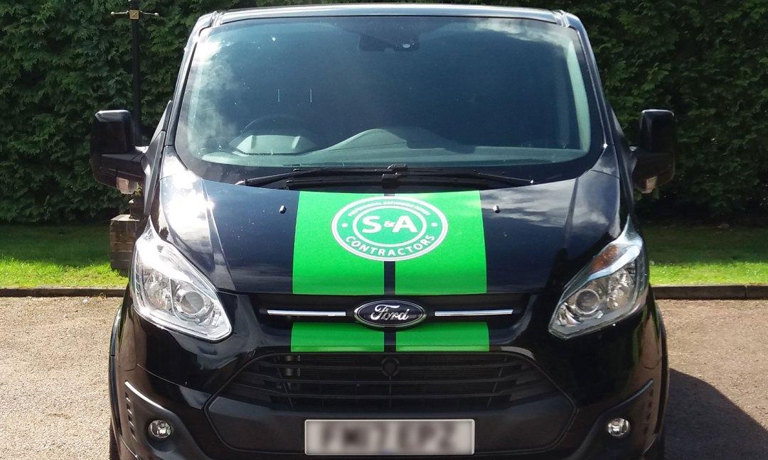 S&A black van front