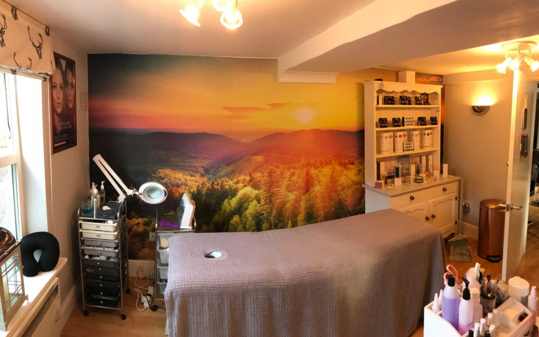 Infinity Beauty salon interior wall print